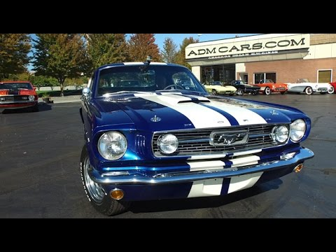 1966 Ford Mustang Fastback Cobalt Blue Youtube