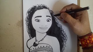 COMO DIBUJAR A MOANA / how to draw moana