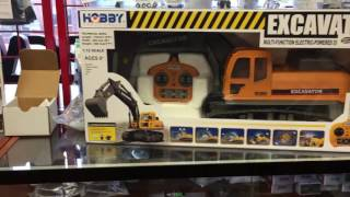 New construction equipment RC vehicles at Chris's House
