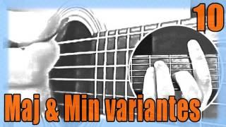 """Cours de Guitare pour Débutants : """"Les accords Majeurs & Mineurs - variantes : C / G / Dm / Em"""""""