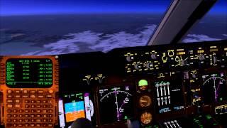 FSX PMDG 747 Full Flight Kuopio EFKU to Ivalo EFIV (Cockpit View 1080p)