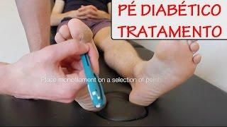 Diabetes do dos do dedos infecção pé