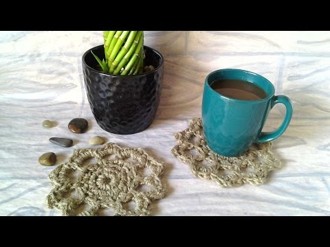 How To Crochet Natural Jute Mug Rugs – DIY Home Tutorial – Guidecentral