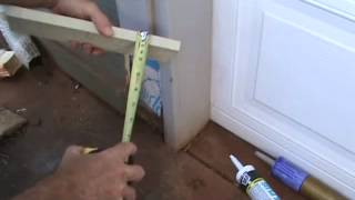 How to piece in a section of wood trim...Part 1