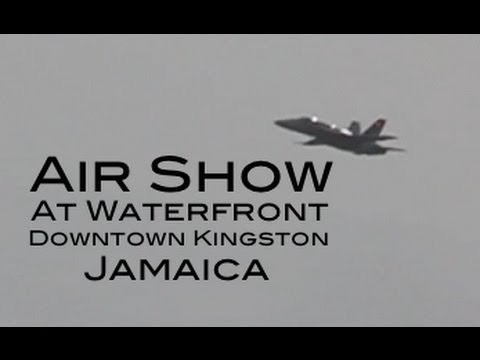 Air Show at Waterfront in Downtown Kingston, Jamaica - 2012