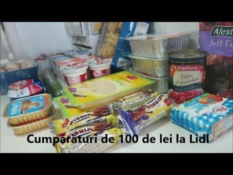Cumpărături la Lidl de 100 de lei