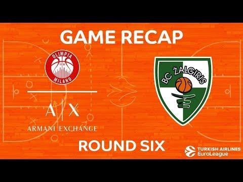 Highlights: AX Armani Exchange Olimpia Milan - Zalgiris Kaunas