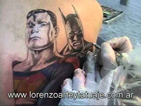 Tattoo superheroes - batman y superman