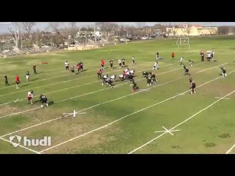 Robert Herzog DB New Mexico Military Institute Spring Football 2015