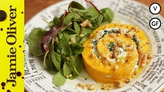 Roasted Squash & Goats Cheese Roulade | French Guy Cooking