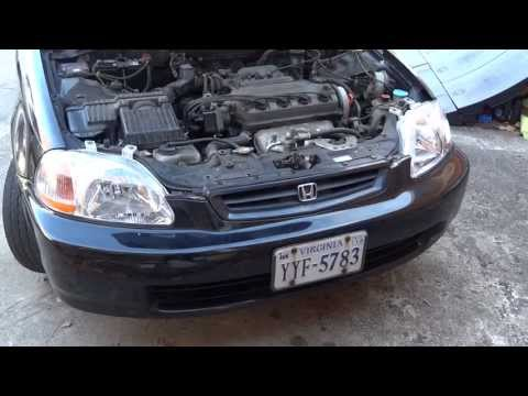 1998 Honda Civic EX Headlamp And Light Bulb Change