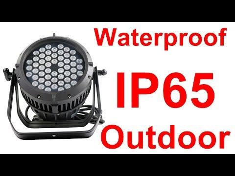Outdoor IP65 Waterproof Wash Par Can 54x3w Rgb 3in1 54 3w Rgb 3 In 1 Led Par Light