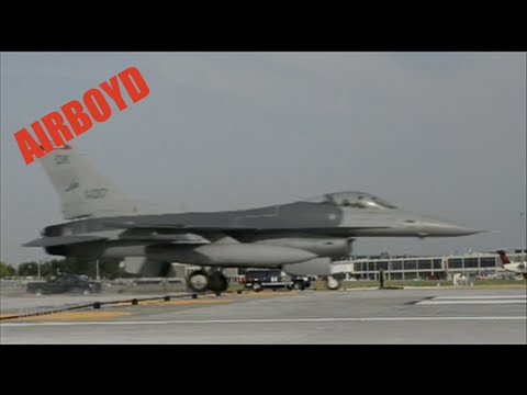 F-16 Barrier Arresting System Test TUL
