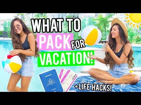 What To Pack For Vacation 2017! Travel Hacks + Holiday Essentials! What's in my Carry On Bag!