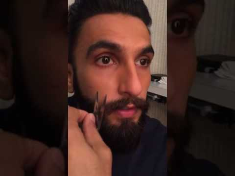 "Ranveer Singh is chatting ""LIVE"" while cutting his Moustache 