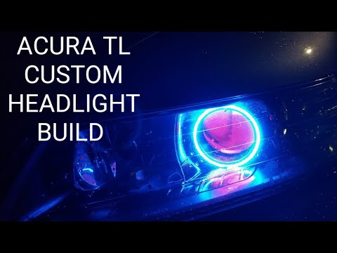 ACURA TL CUSTOM HEADLIGHT BUILD COMPLETE MORIMOTO LIGHTS XBT HALOS - Acura tl aftermarket headlights