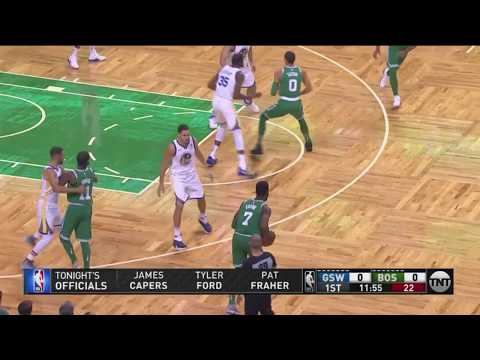 Al Horford Opens Game With Running Hook Vs Warriors
