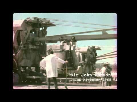 Building Melbourne Airport - Historical construction footage