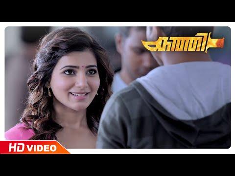 Kaththi Malayalam Movie | Scenes | Vijay meets Samantha at airport