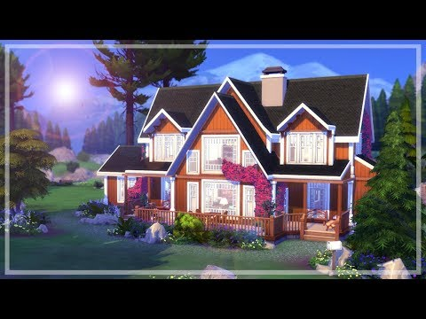 Lakeside Retreat    The Sims 4 Vacation Home - Speed Build