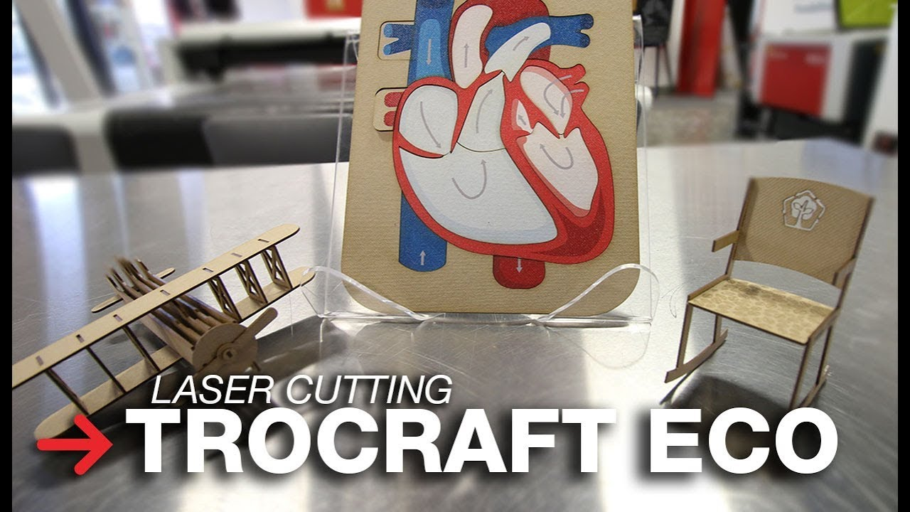 TroCraft Eco wood sheets for laser engraving and cutting