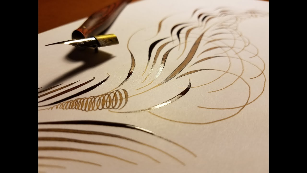 Feather Flourish Calligraphy Youtube