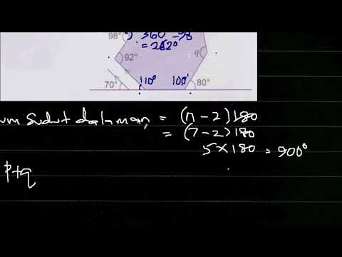 Bab 4 Poligon Matematik Tingkatan 2 Q8 Menjana Kecemerlangan Youtube