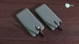 Inone Power Bank 10000mAh PowerBank P5 2A Fast Charging Dual Output Data Cable TYPE C