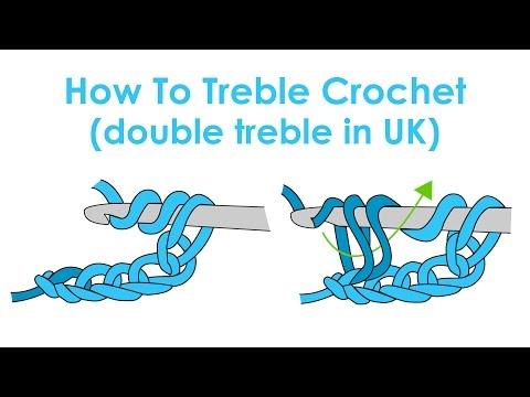 How to Treble Crochet (Double Treble Crochet in UK) - Crochet Lesson 6