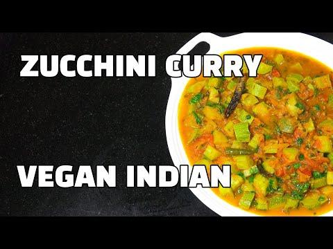 Zucchini Curry - Zucchini Sabzi - Courgette Curry - Vegan Recipes - Vegan Youtube