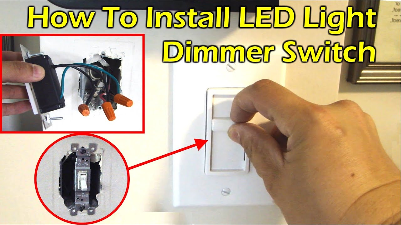 How To Install Led Light Dimmer Switch Youtube Ge Dimming Ballast Wiring Diagram