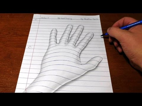 How to Draw a 3D Hand - Trick Art Optical Illusion