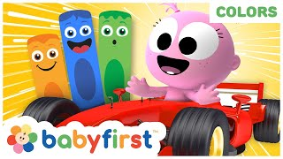 Racing Cars & Police Cars for Kids | Toddler Learning Video w Color Crew & GooGoo GaGa | Baby First