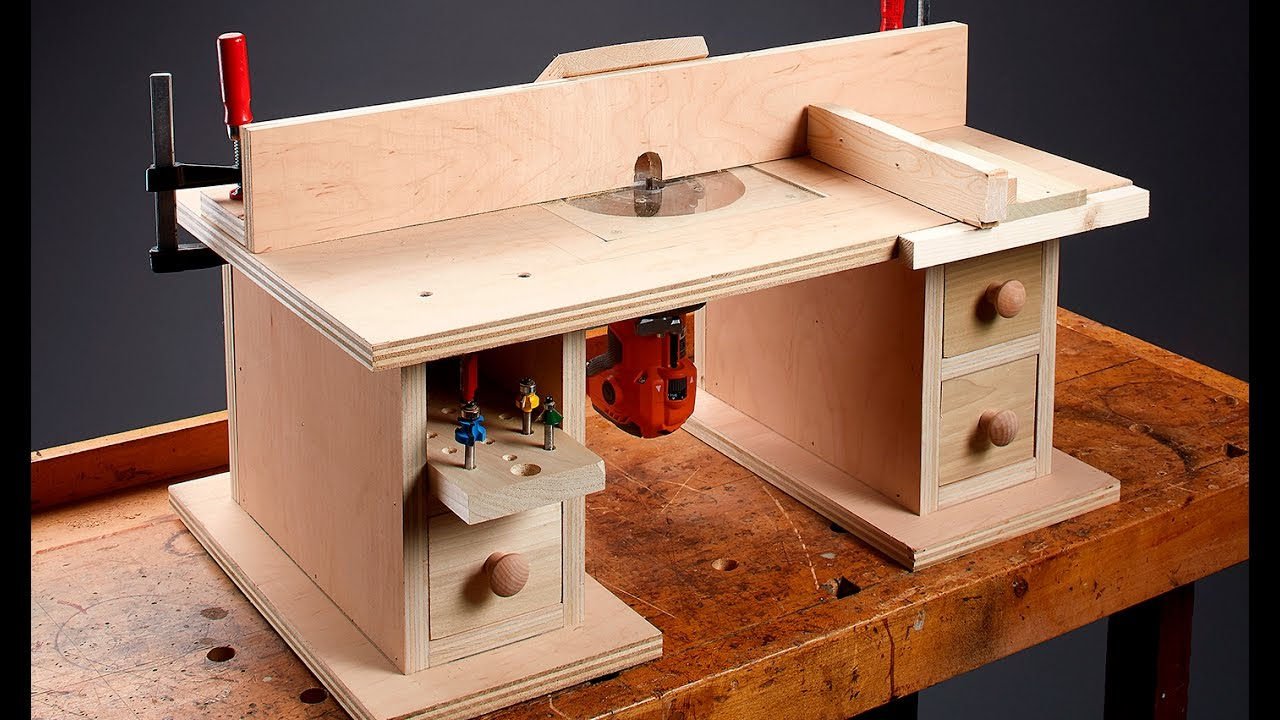I can do that benchtop router table youtube for How to make a router table