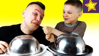 Обычная Еда против Сладкой Еды Челлендж с Папой и Игорюшей