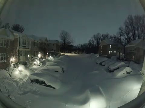 Snowzilla snow blizzard timelapse, Maryland, USA. January 2016.