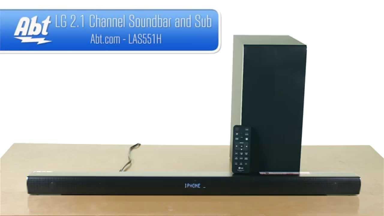 lg 2 1 channel soundbar and wireless subwoofer las551h overview youtube. Black Bedroom Furniture Sets. Home Design Ideas