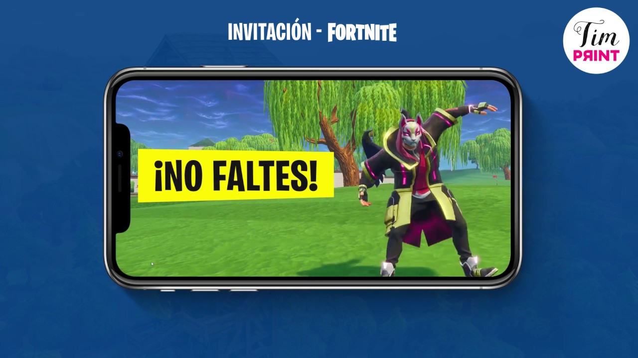 Invitación Digital Animada Fortnite