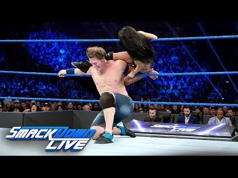 John Cena & Becky Lynch vs. Andrade Cien Almas & Zelina Vega: SmackDown LIVE, Jan. 1, 2019