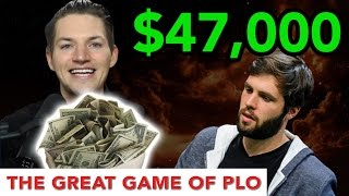 Me & Ben Sulsky aka Sauce Play $47,000 Pot at PLO!! Check or Bet Turn???