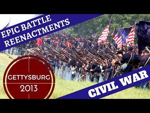 Epic Civil War Reenactment [10,000+ Reenactors] -- Gettysburg 2013 Pickett's Charge