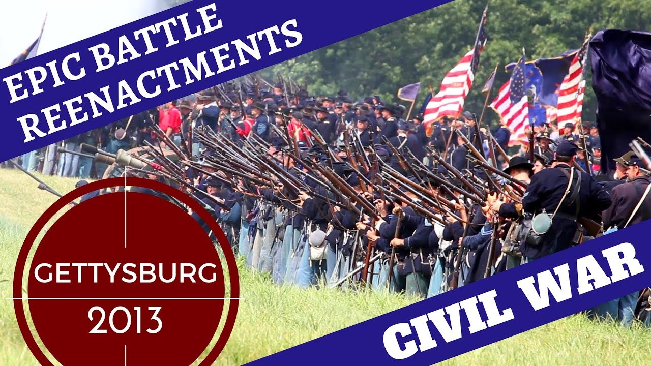Download Epic Civil War Reenactment [10,000+ Reenactors] -- Gettysburg 2013 Pickett's Charge