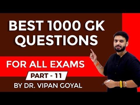 Best 1000 GK/GS Current Affairs Questions 2019 part 11 I RRB NTPC, UPSI by Dr Vipan Goyal I Study IQ