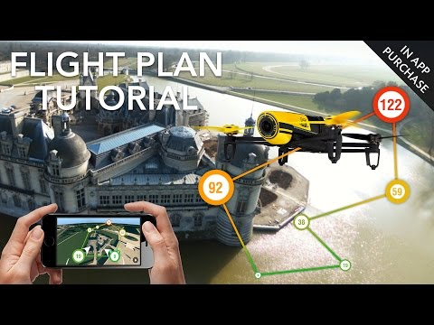 Parrot Bebop - Flight Plan (In-App purchase) - Full Tutorial Video