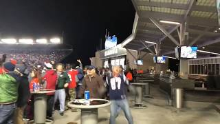 Gillette Stadium crowd reacts to Patriots stopping Jaguars on fourth down in AFC Championship Game