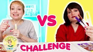 3 Marker Challenge Mommy vs. Mean Mommy with Mermaid School Supplies!