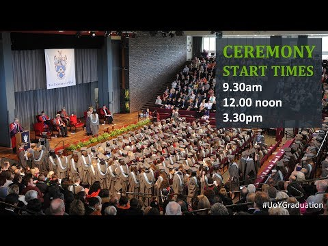 Ceremony 1: Wednesday 12 July at 9.30am