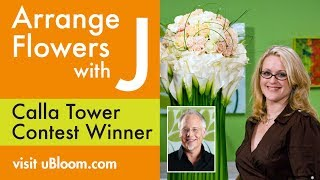 Repeat youtube video How to Arrange Flowers- The Calla Lily Tower Arrangement!