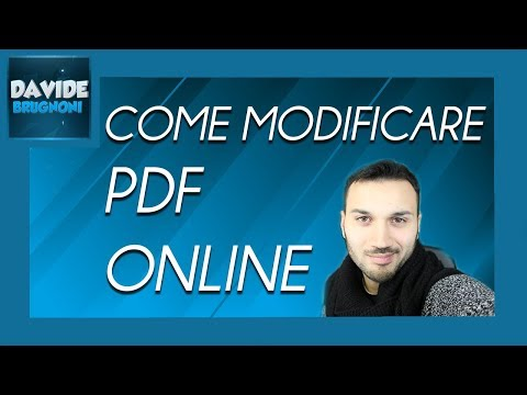 Come Modificare PDF Online | Davide Brugnoni