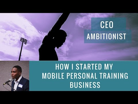 Young Black Entrepreneurs: Edouard Gilles Starting Mobile Personal Training Franchise